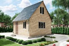 Типовой проект дома из бруса №1