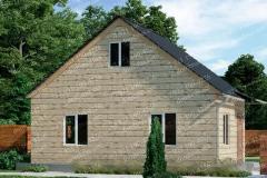 Типовой проект дома из бруса №2
