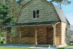 Типовой проект дома из бруса №3