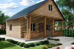 Типовой проект дома из бруса №4