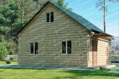Типовой проект дома из бруса №5