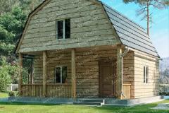 Типовой проект дома из бруса №6