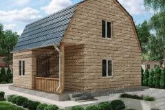 Типовой проект дома из бруса №7