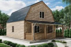 Типовой проект дома из бруса №8